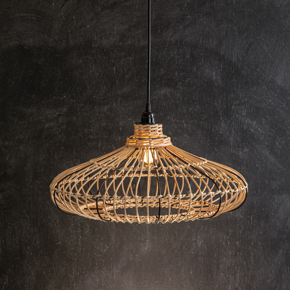 Alina Rattan Pendant Lamp - CTW Home Collection 460277