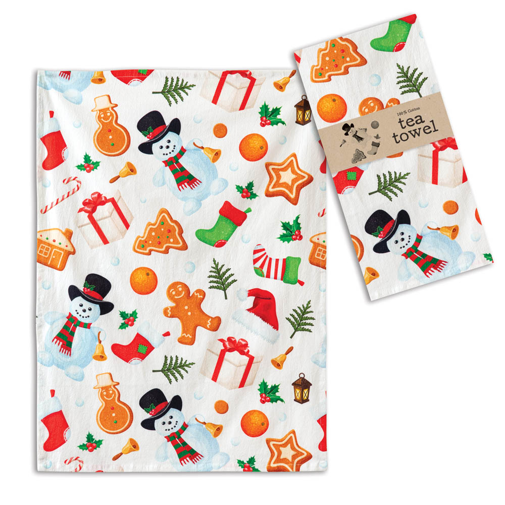 All Things Holiday Tea Towel - Box of 4 - CTW Home Collection 780146