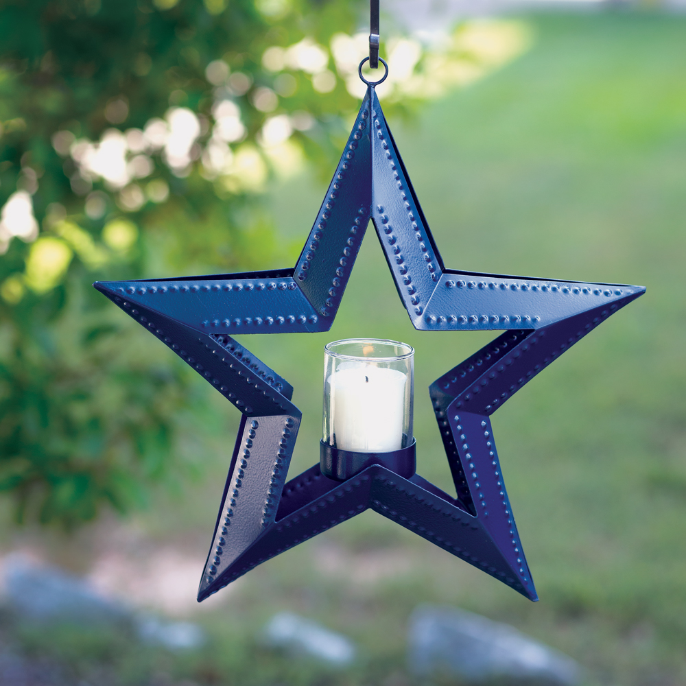 5 Point Hanging Star Votive Holder - Blue - CTW Home Collection 810007N