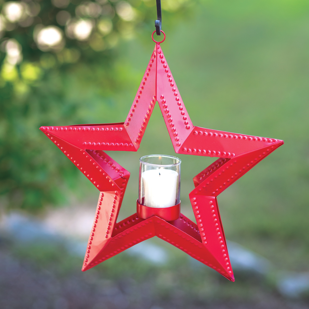 5 Point Hanging Star Votive Holder - Red - CTW Home Collection 810007R