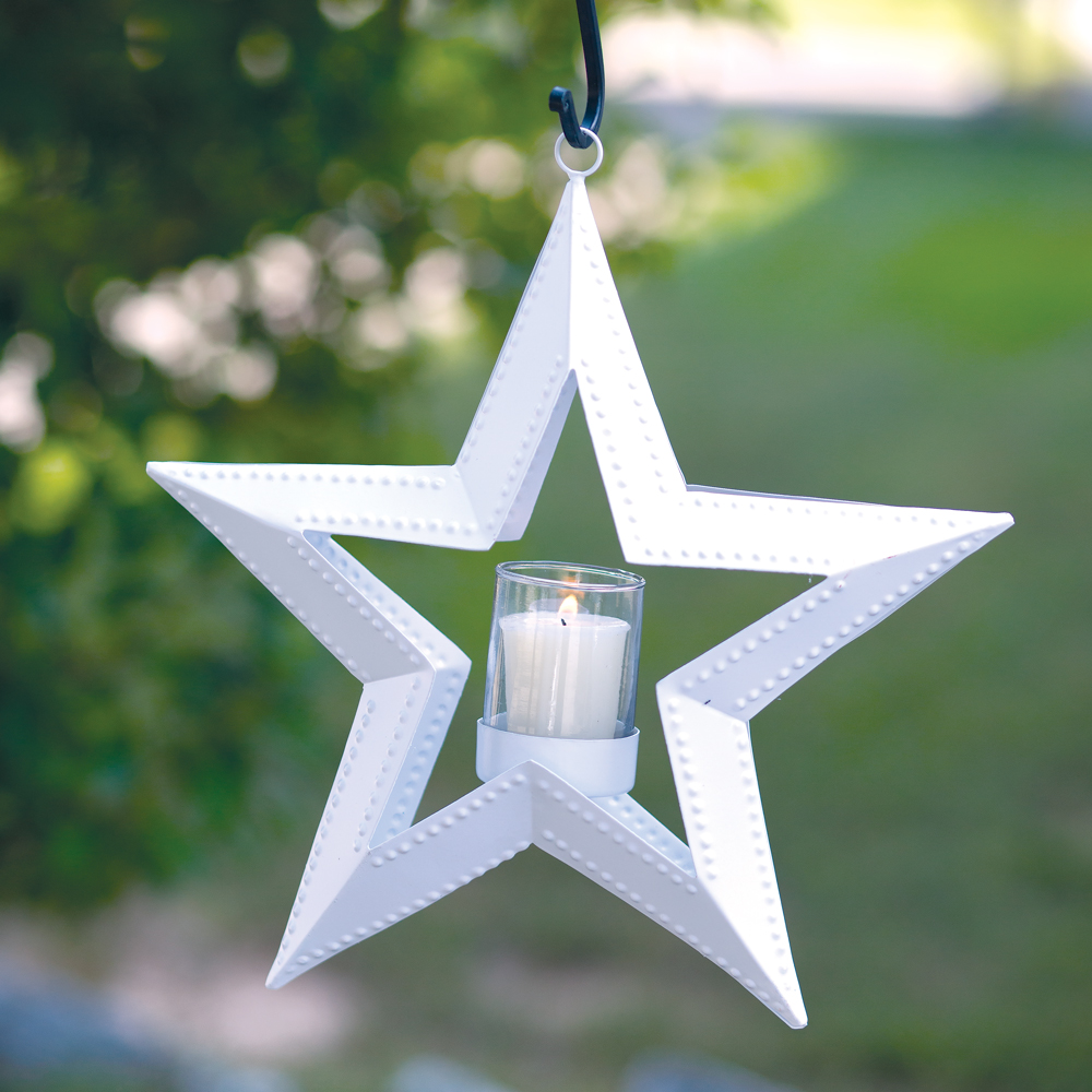 5 Point Hanging Star Votive Holder - White - CTW Home Collection 810007W