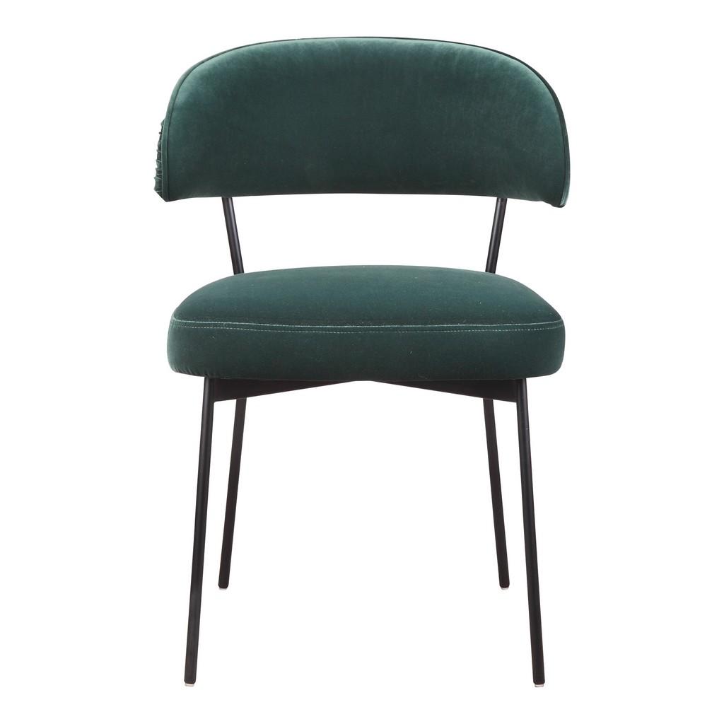 Moes Dolce Dining Chair Green Velvet Moe