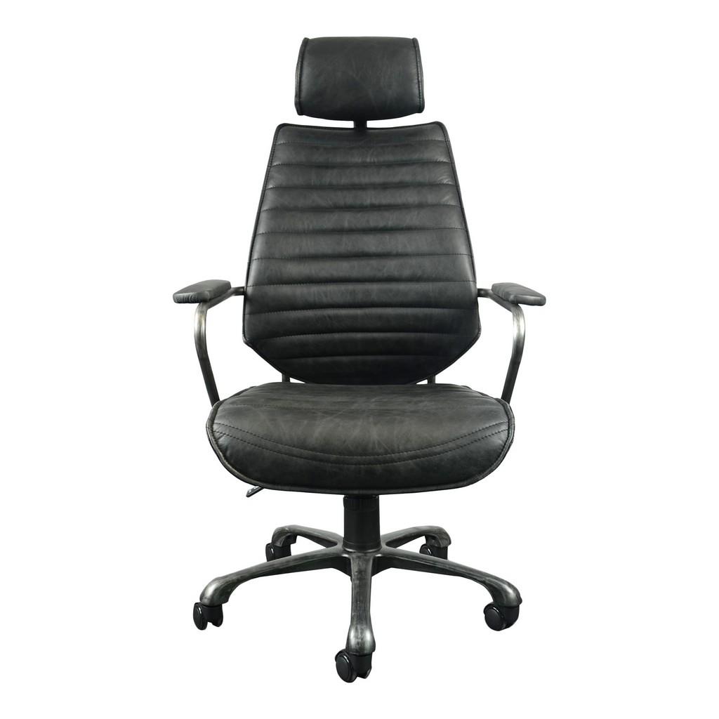 Executive Swivel Office Chair Black Moe