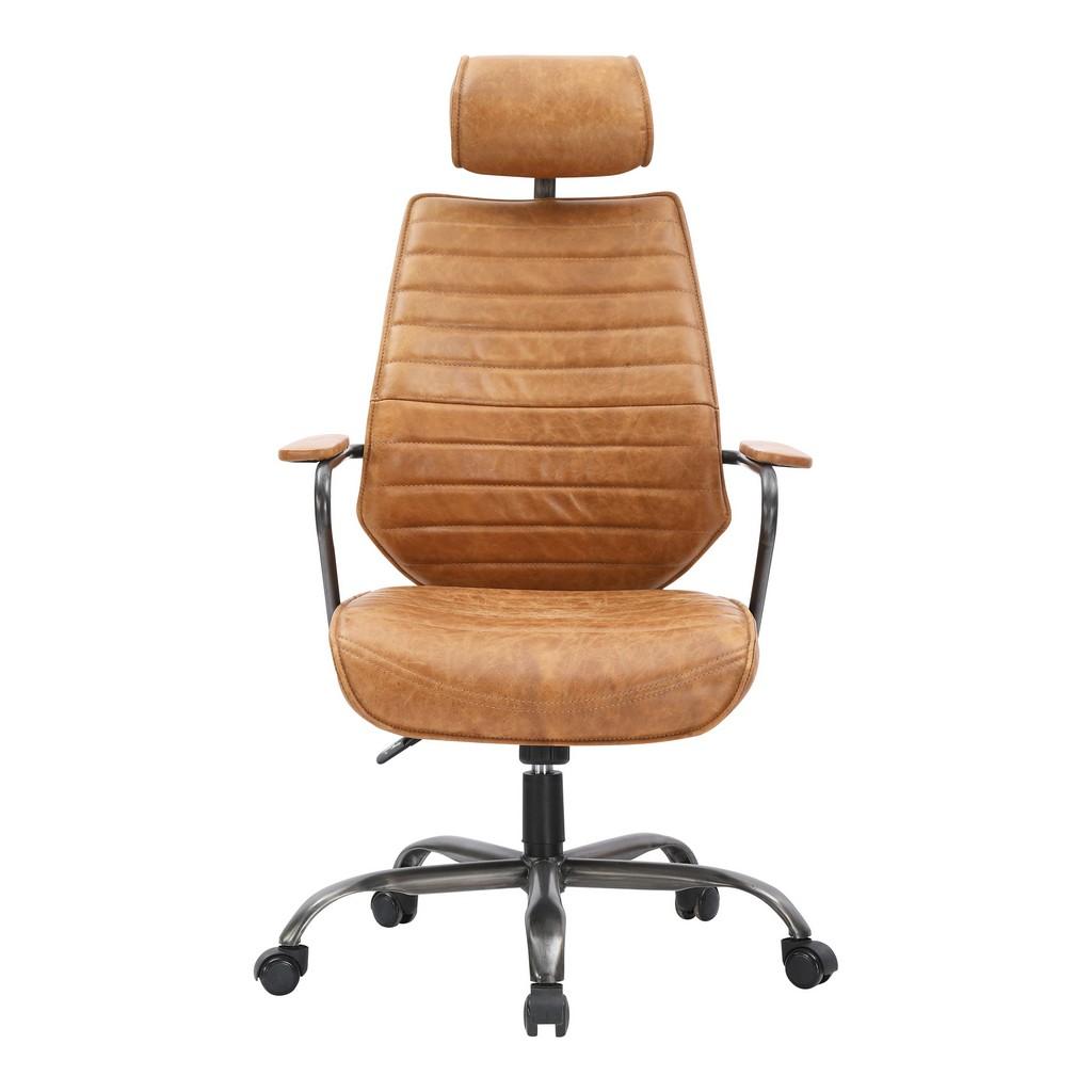 Executive Swivel Office Chair Cognac Moe
