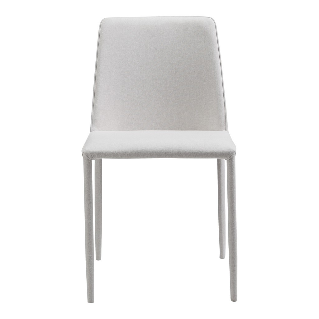 Moes Nora Fabric Dining Chair White Moe