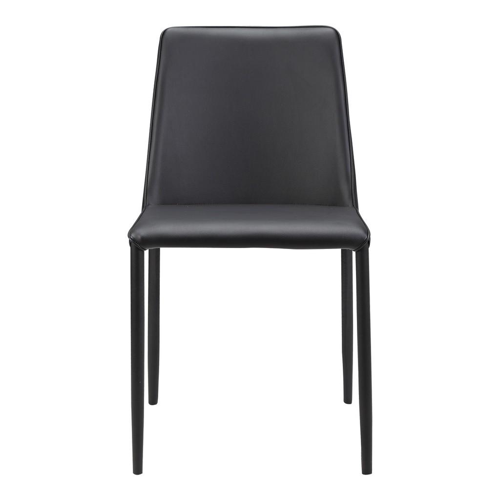 Moes Nora Pu Dining Chair Black Moe