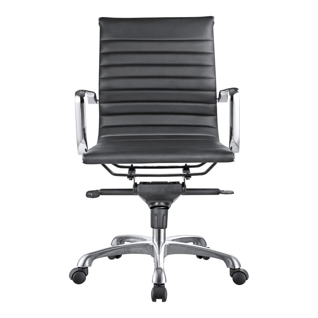Swivel Office Chair Low Back Black Moe