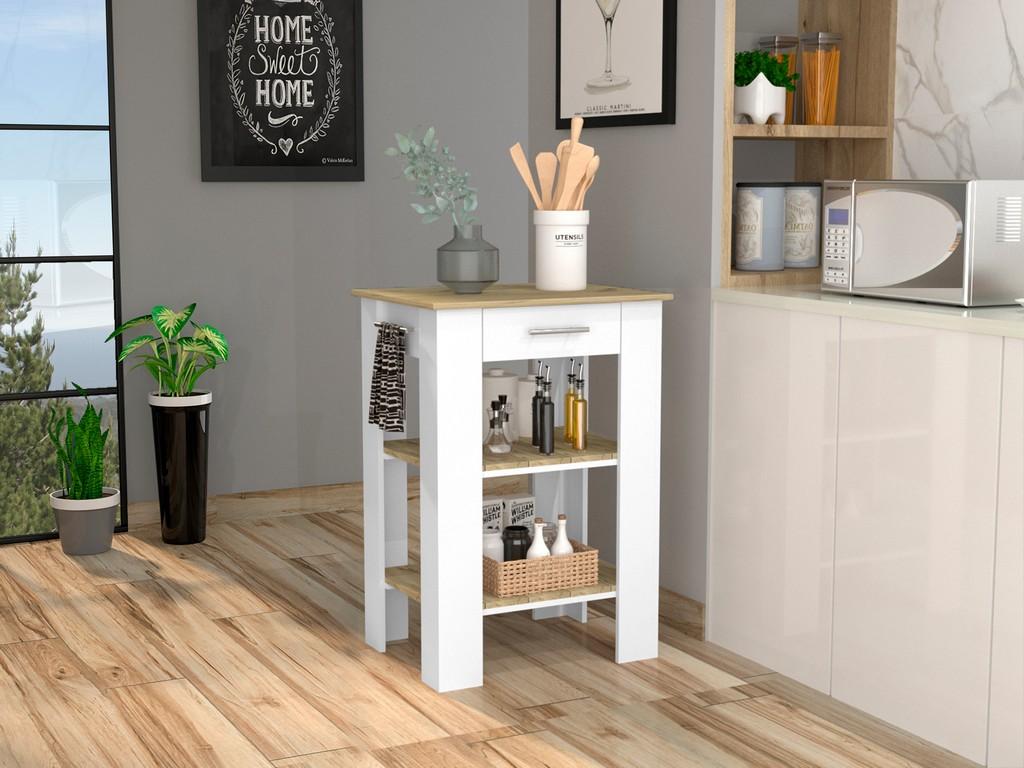 Brooklyn 23 Kitchen Island White - Pine - RTA Design ABD5774