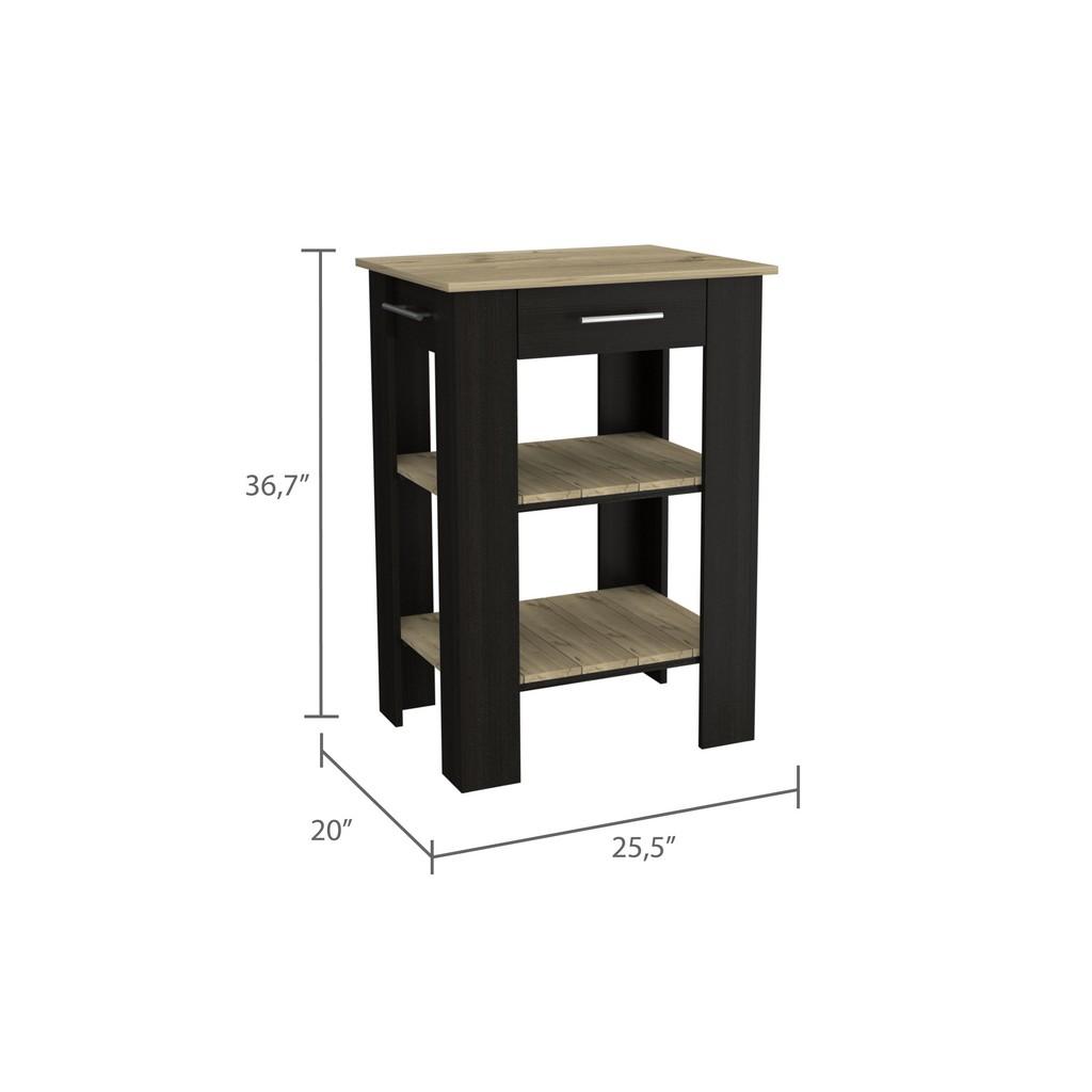 Brooklyn 23 Kitchen Island Black-Pine - RTA Design AWD5775