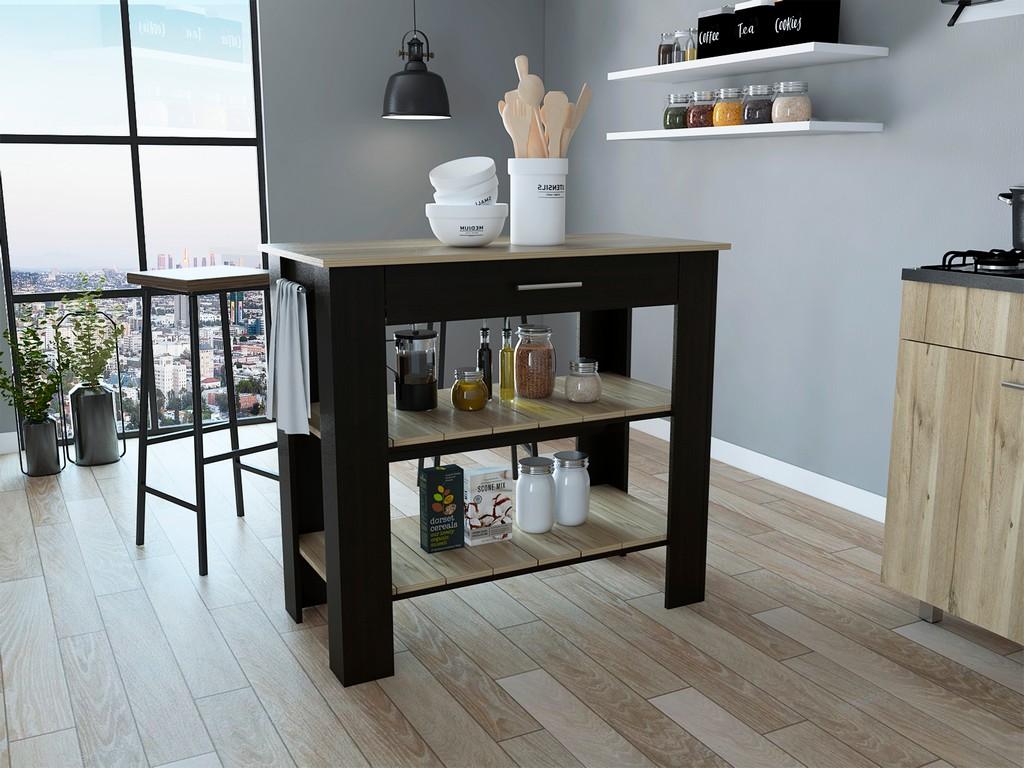 Brooklyn 40 Kitchen Island Black - Pine - RTA Design AWD5777