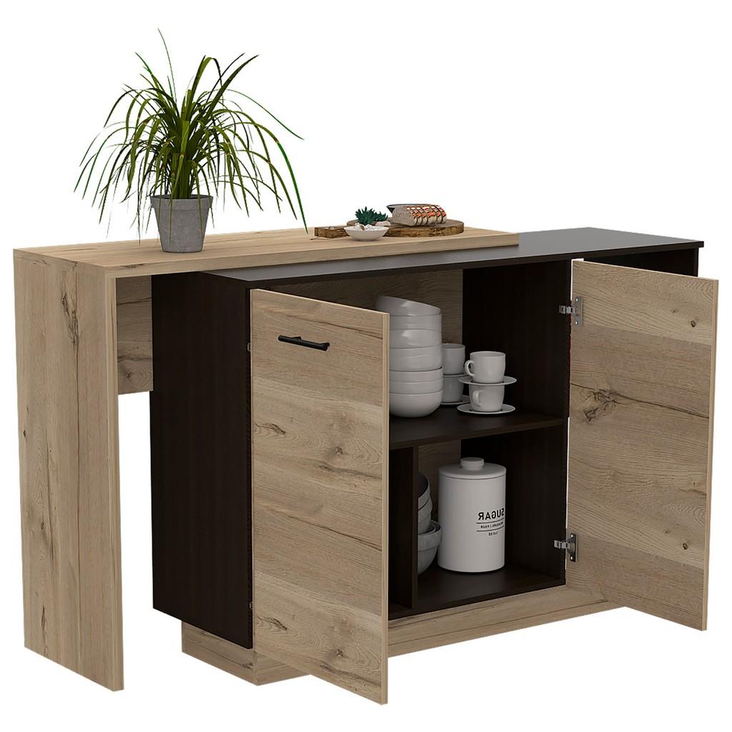 Aspen Kitchen Island Black Wengue - RTA Design BWD5580