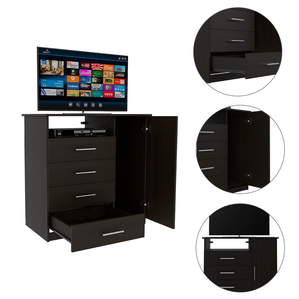 Carolina 4 Drawer Dresser Black wengue - RTA Design CLW3922