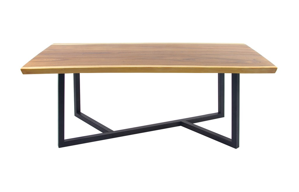 Juniper Ivory Brown Wood Contemporary Dining Table