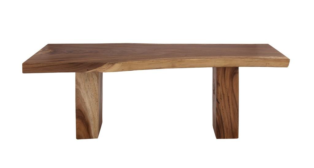 Juniper Ivory Light Brown Teak Wood Contemporary Dining Table