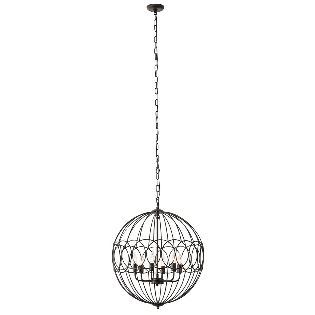 Juniper Ivory Traditional Caged Chandelier Copper Iron