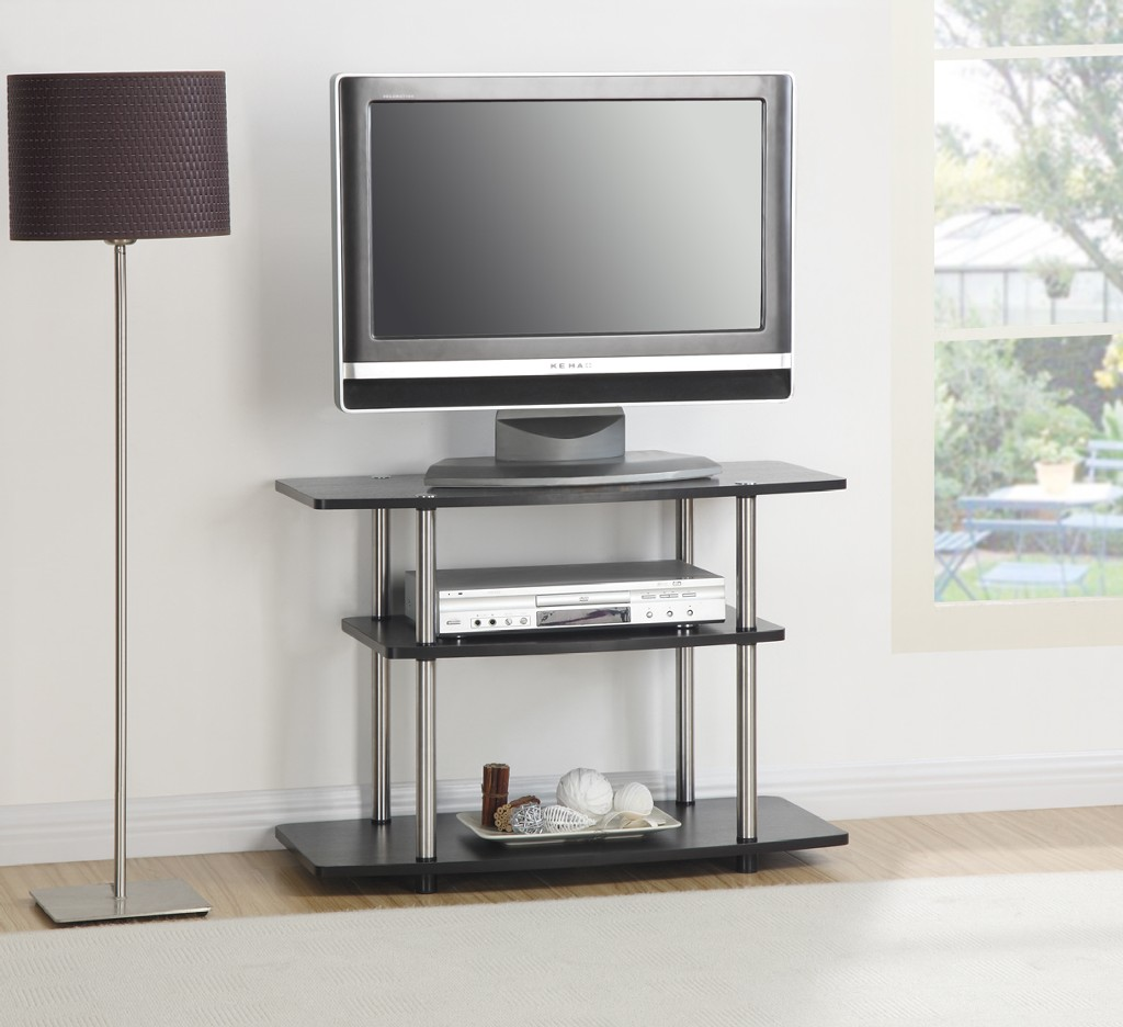 3 Tier TV Stand in Espresso Finish - Convenience Concepts 131020ES