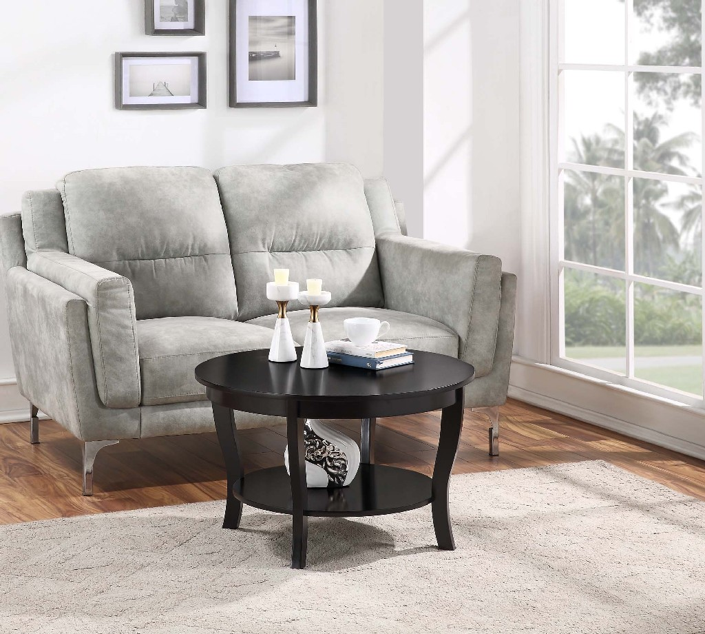 American | Coffee | Round | Table | Black