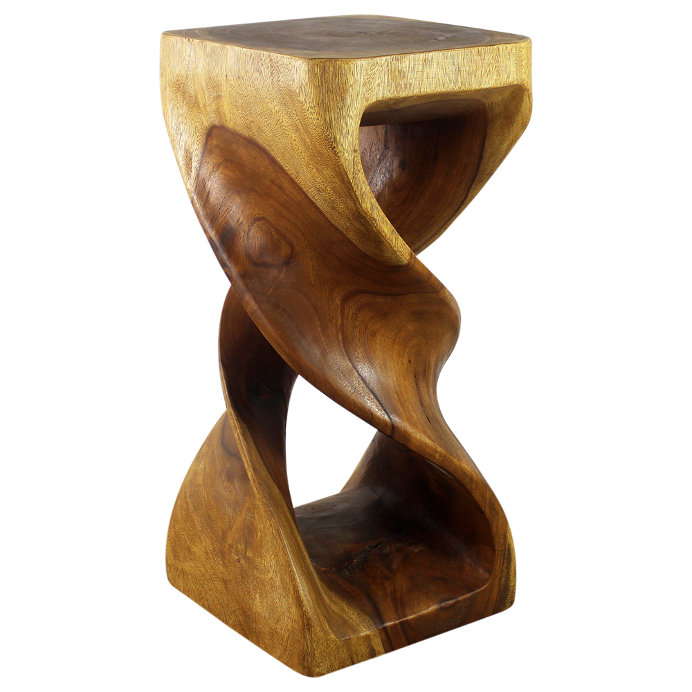 "Double Twist 14""x30"" End Table - Strata Furniture DTS1430-L-OAK"