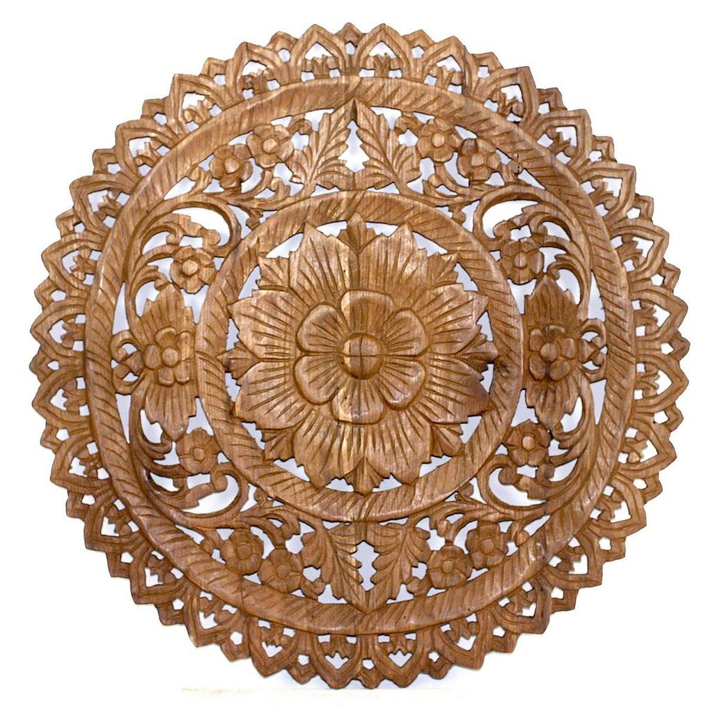 """Lotus Round 24"""" Panel - Strata Furniture LPIRD24-BRSNW"""
