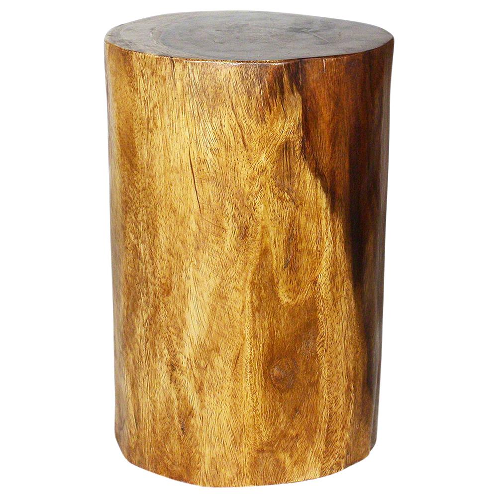 """Mango Stump End Table 18"""" - Strata Furniture MPSS11D18-L-WAL"""
