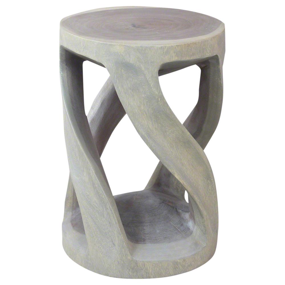 Circular Twist End Table - Strata Furniture RWTV14D20-L-AGR