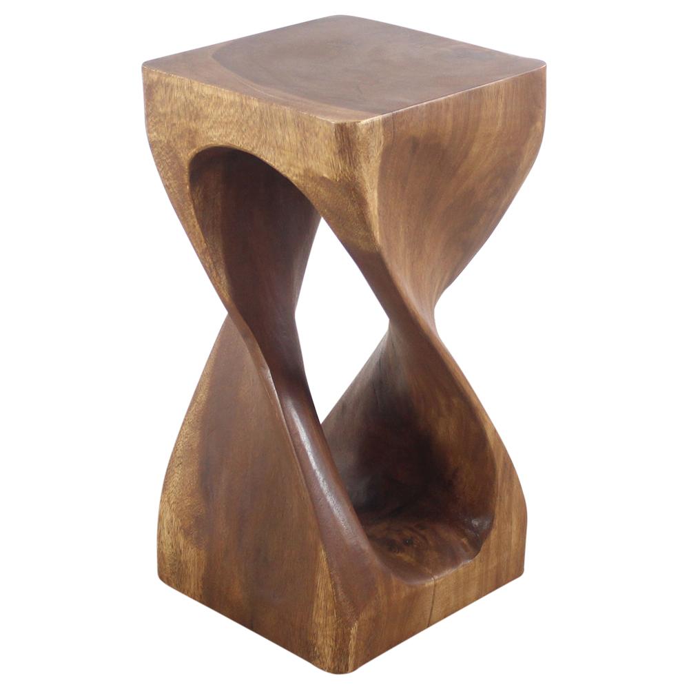 "Single Vine Twist End Table 12""x23"" - Strata Furniture STV1223-L-WAL"