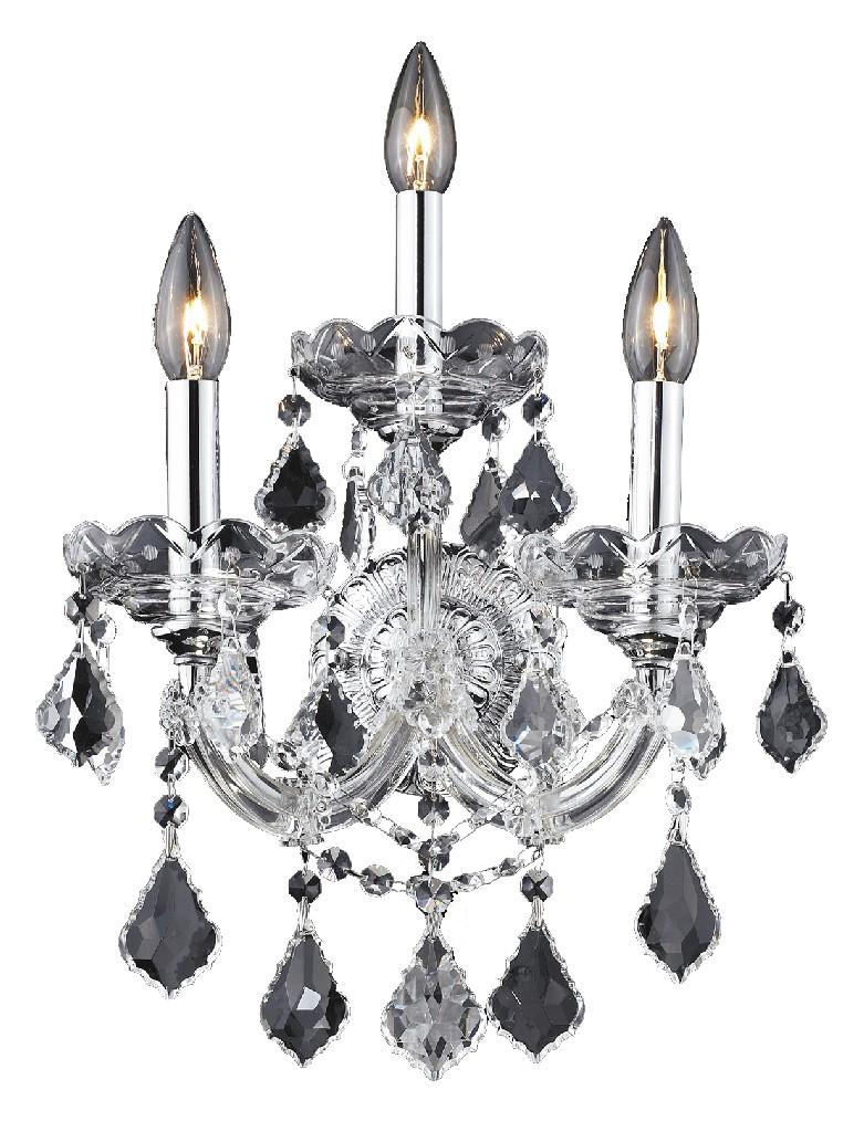 Elegant Lighting Light Chrome Wall Sconce Clear Elements Crystal