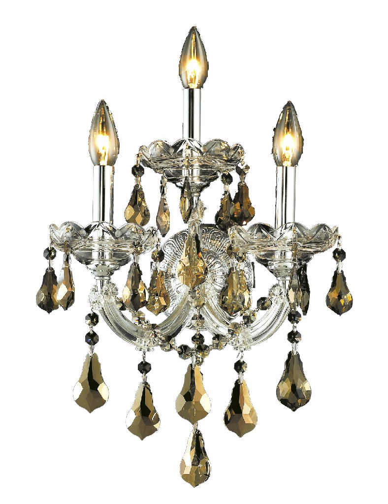 Elegant   Crystal   Golden   Chrome   Sconce   Maria   Light   Wall