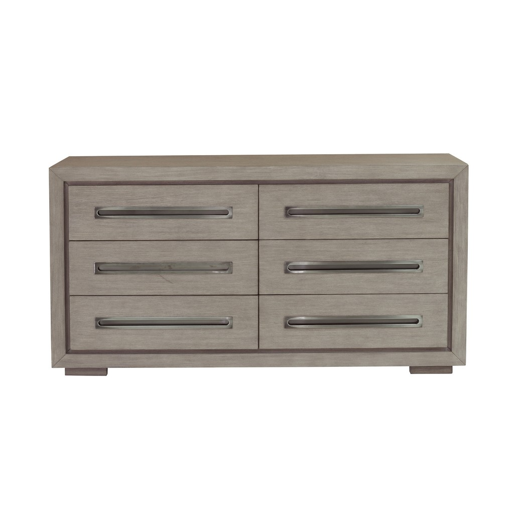 Accentrics Home Modern 6 Drawer Dresser in Natural Taupe - Home Meridian D233-010 Image