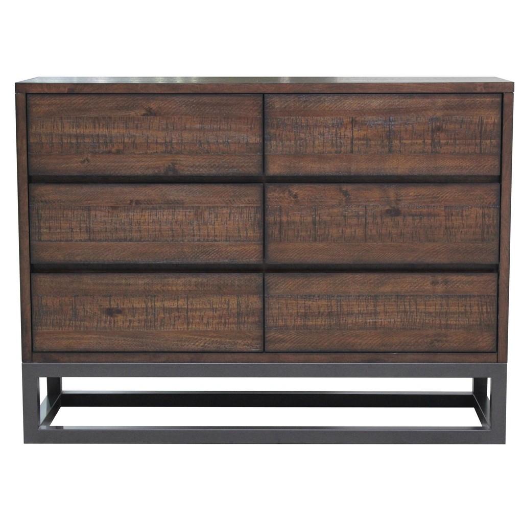 Accentrics Home Modern Industrial 6 Drawer Dresser - Home Meridian DS-D146-003 Image
