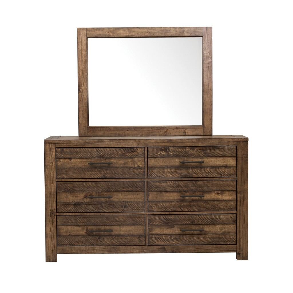 Samuel Lawrence Furniture Dresser with Six Drawers and Distressed Fiinsh - Home Meridian S290-010 Image
