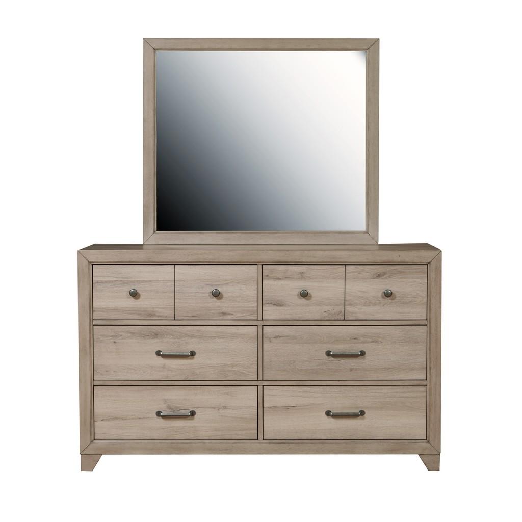 Samuel Lawrence Furniture Kids  Six Drawer Dresser in River Birch Brown - Home Meridian S496-410 Image