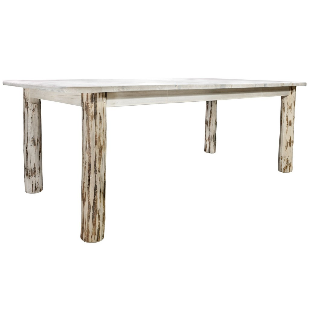 Montana Post Dining Table Two Leaves Clear Lacquer
