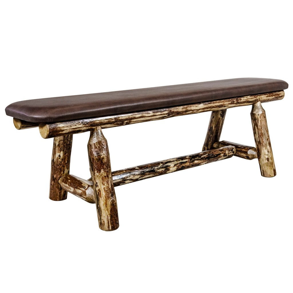 Montana Country Plank Bench Foot Saddle Upholstery