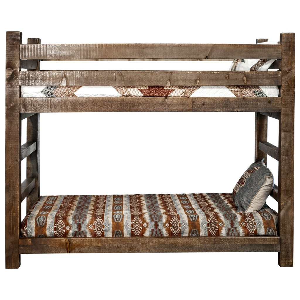 Twin Twin Bunk Bed Stain Clear Lacquer