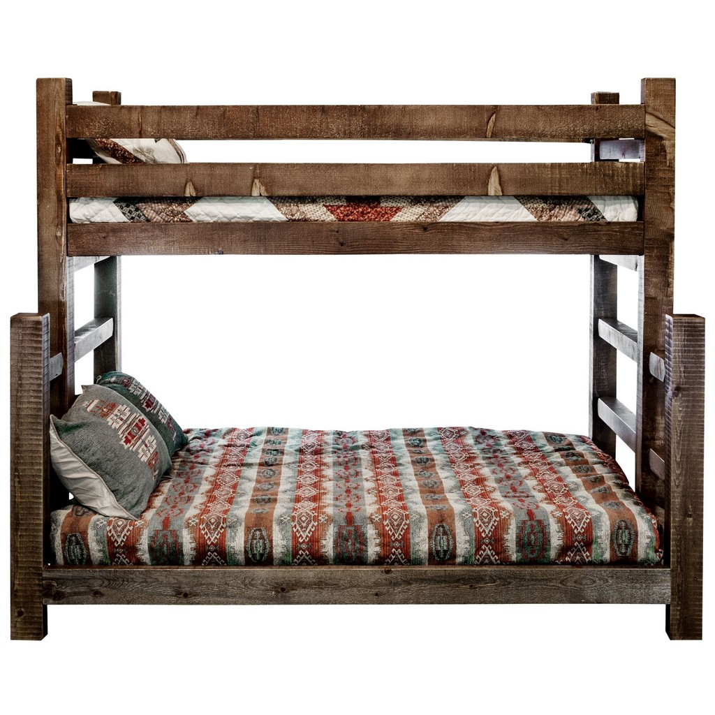 Twin Full Bunk Bed Stain Clear Lacquer