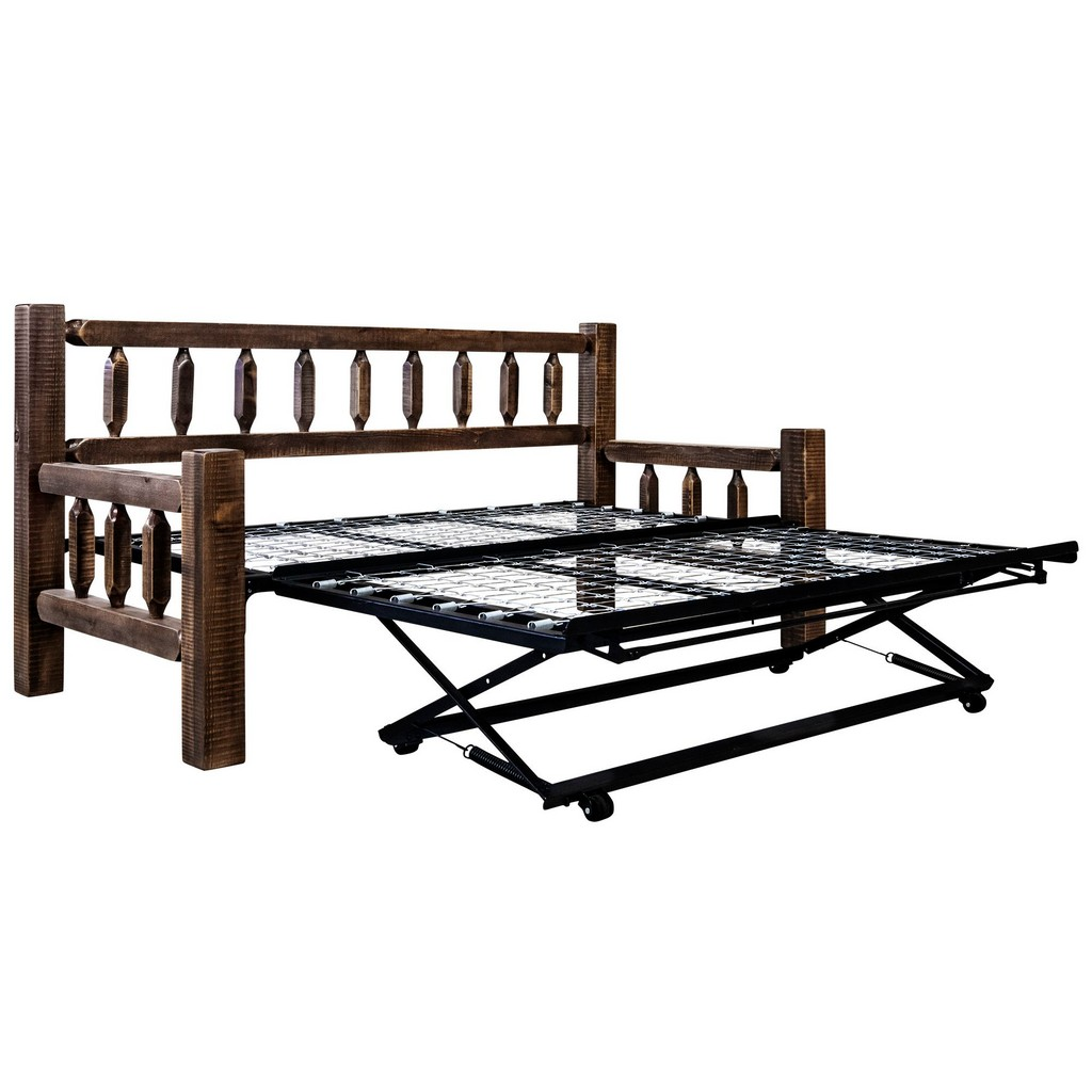 Montana Day Bed Pop Up Trundle Bed Stain Clear Lacquer