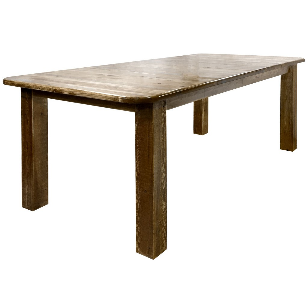 Montana Post Dining Table Two Leaves Stain Clear Lacquer