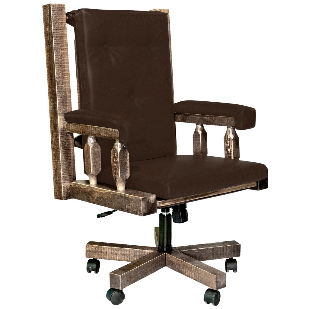 Upholstered Office Chair Stain Clear Lacquer