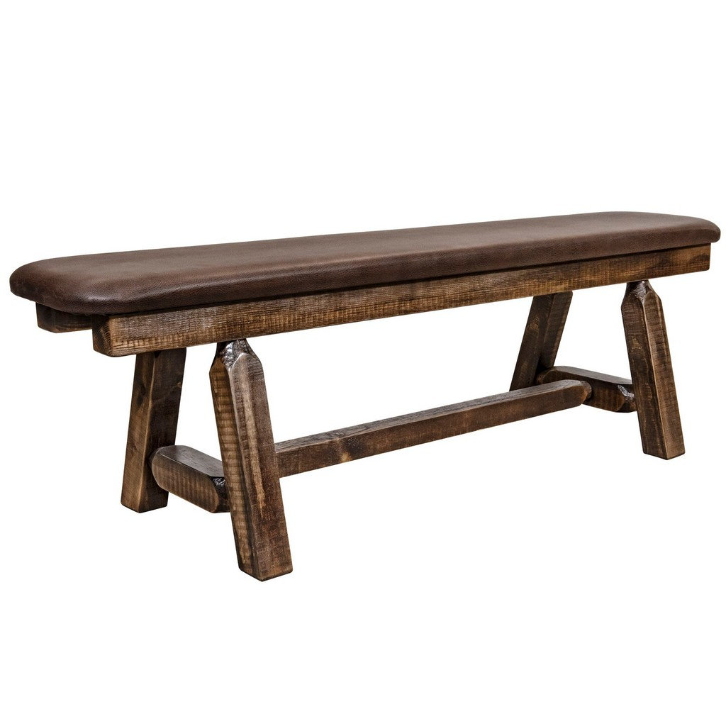 Montana Plank Bench Stain Clear Lacquer Foot Saddle Upholstery