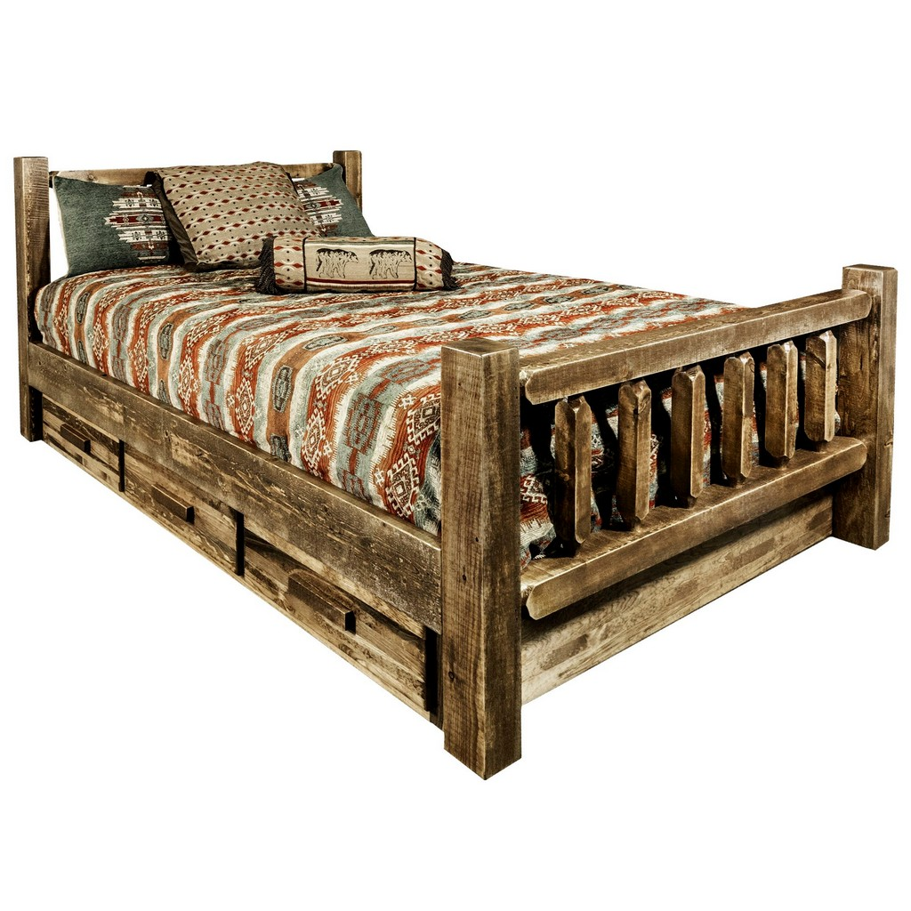 Twin Bed Storage Stain Lacquer