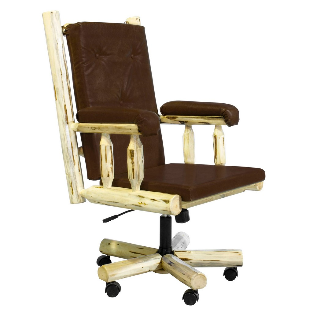 Upholstered Office Chair Clear Lacquer