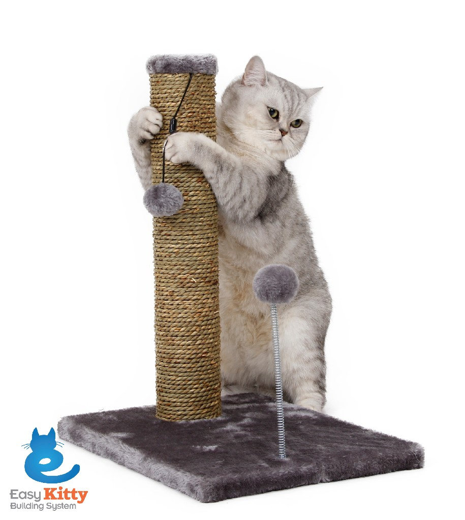 "Cat Craft 20"" Sea Grass Scratching Post with Spring Toy (18"" Post) - 3008001"