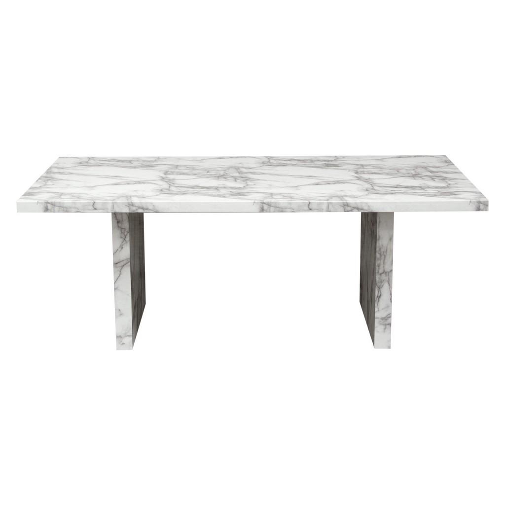 Diamond Sofa Furniture Faux Marble Rectangular Dining Table