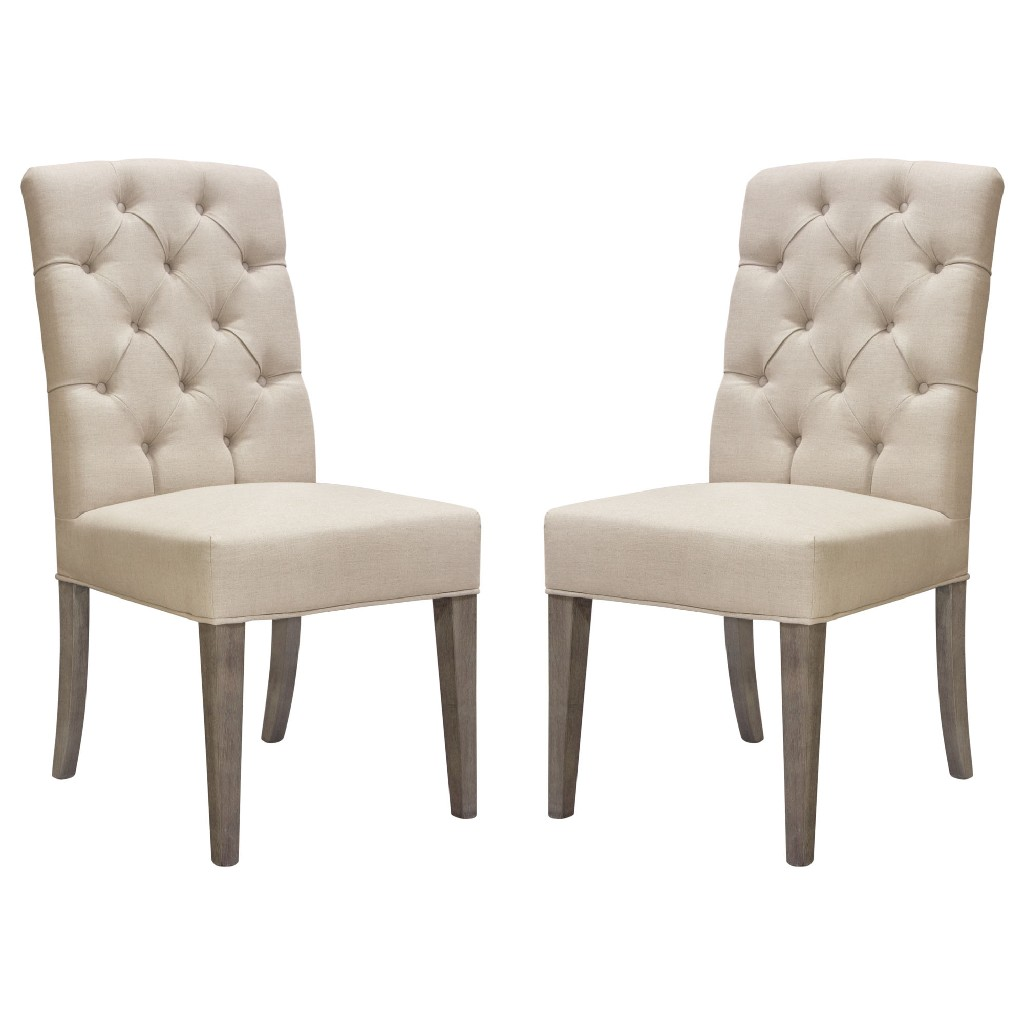 Two Tufted Dining Side Chairs