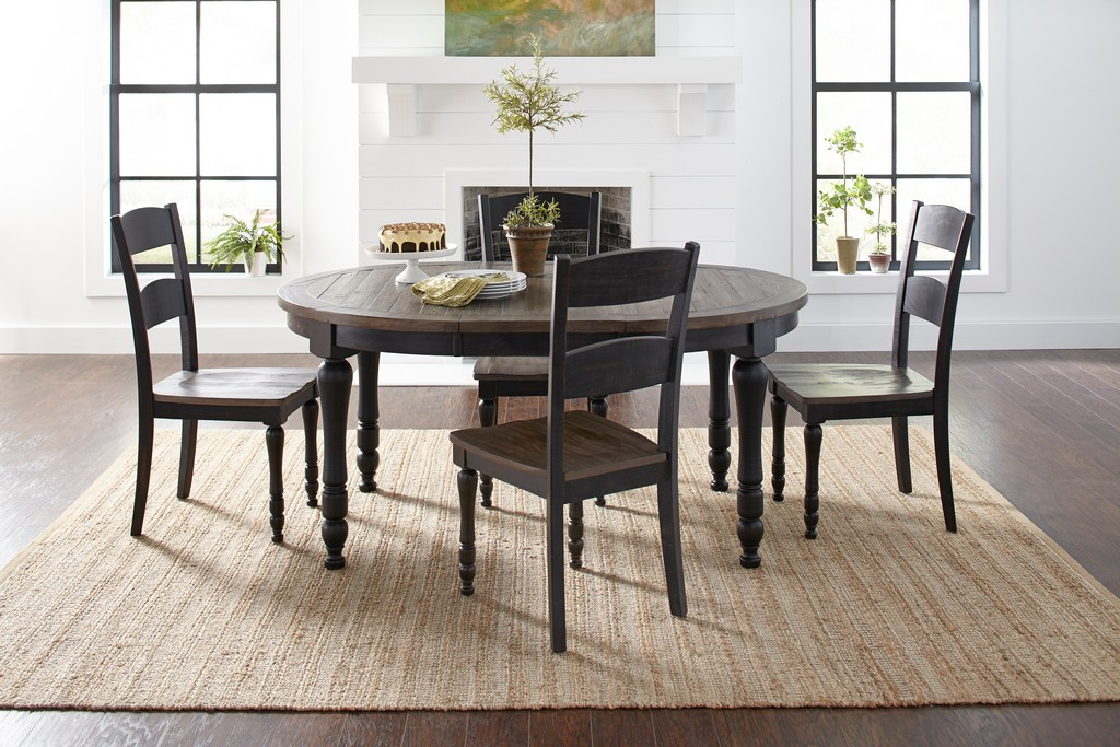 Jofran Pine Round Oval Dining Table