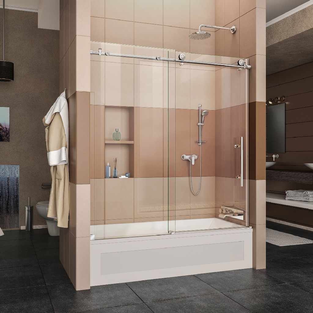 Stainless | Polish | Finish | Slide | Clear | Steel | Glass | Tub