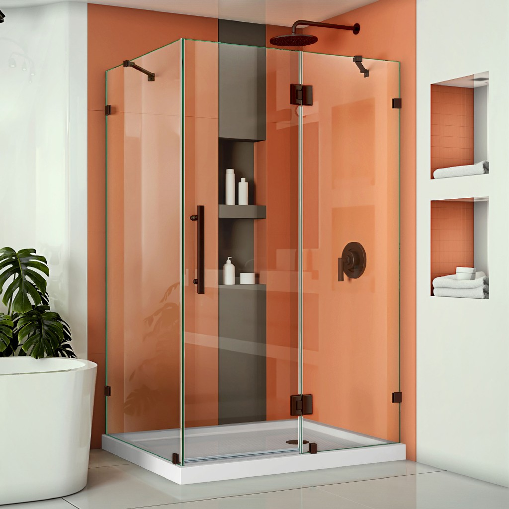 Dreamline Hinged Shower Enclosure Oil Rubbed Bronze Hardware