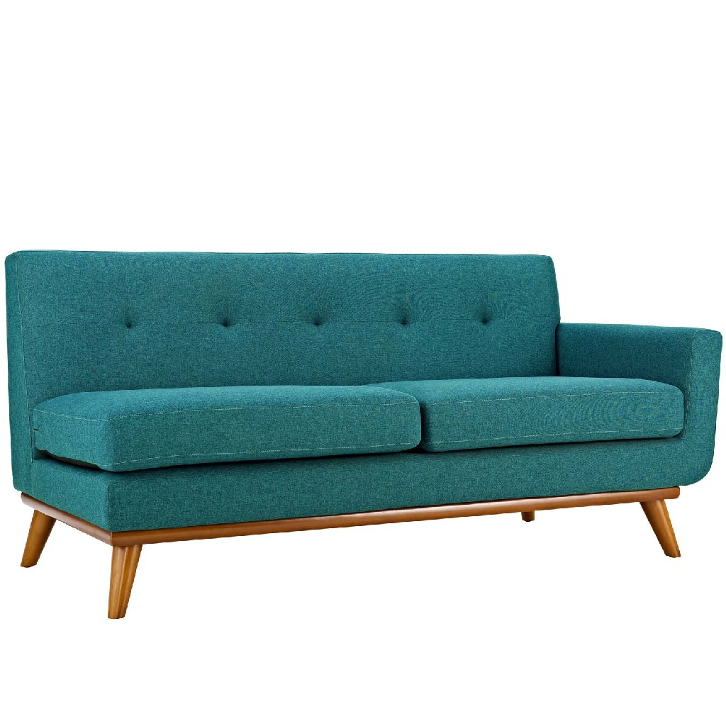 East End Right Arm Upholstered Fabric Loveseat Tea