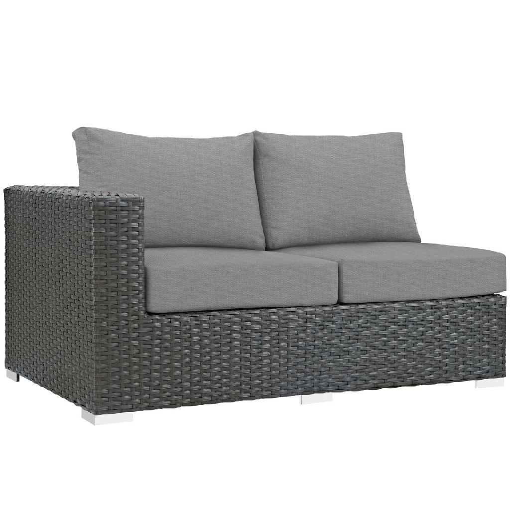 East End Imports Outdoor Patio Sunbrella Left Arm Loveseat Chc